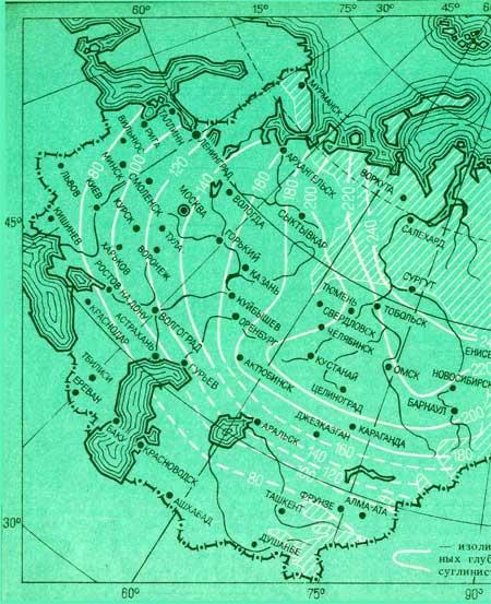 Глубина промерзания грунта в различных регионах России