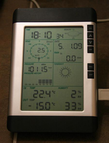 Домашняя метеостанция с подключеним к компьютеру